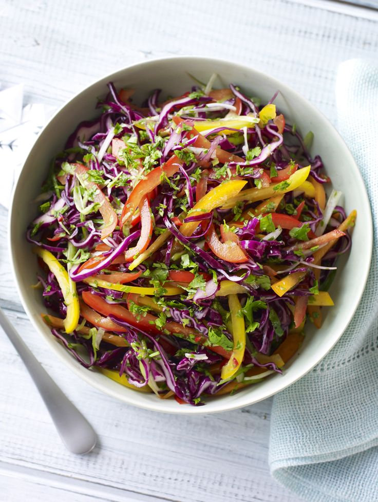A fresh, sweet and sour slaw from Nigella to liven up any mid-week meal.