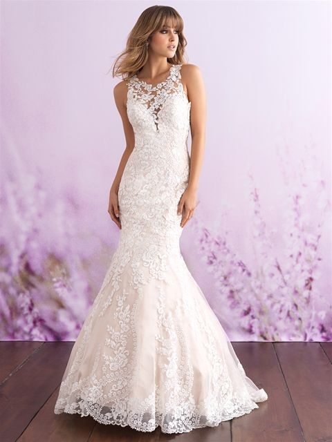 eb5bd5d76a73 3115 by Allure Romance - size 12- Antique Ivory/Nude | Allure Bridal ...