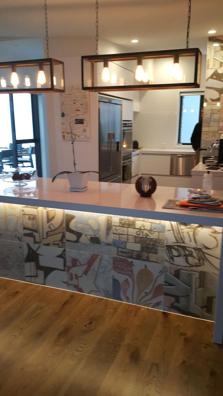 Everyone loves our Bansky tiles! A colourful splash in this kitchen in Hawkes Bay.