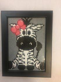 Hama mini zebra