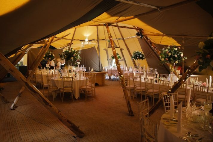How about a teepee for your wedding venue?
