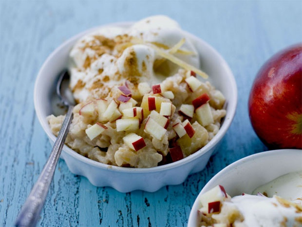 Apple ginger rice pudding