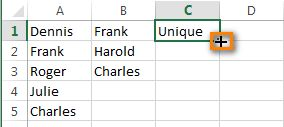 Put the cursor to the lower right corner of the cell where you have written the formula
