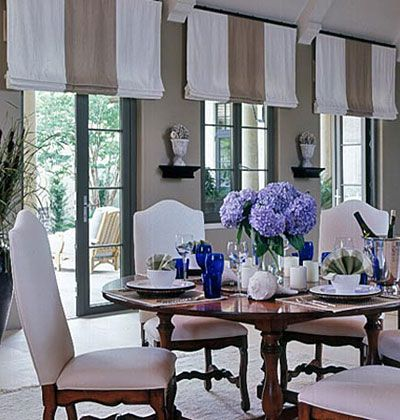 Cool Color Choices < 50 Dining Room Decorating Ideas - MyHomeIdeas.com