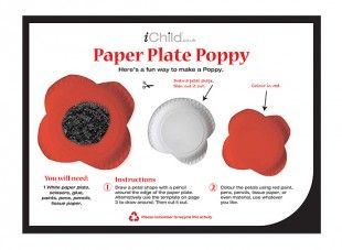 This poppy paper plate craft is a great activity to make for Remembrance Day.