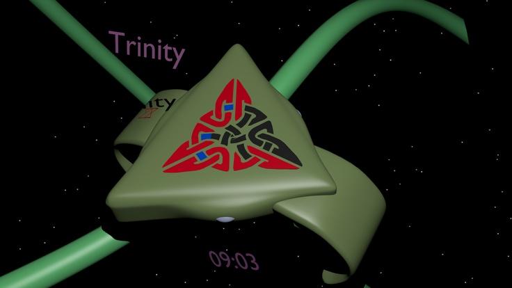 LED watch based on the Celtic Trinity symbol 07