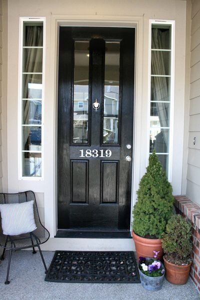 front door: Idea, Number Template, Painted Houses, Front Doors, House Numbers