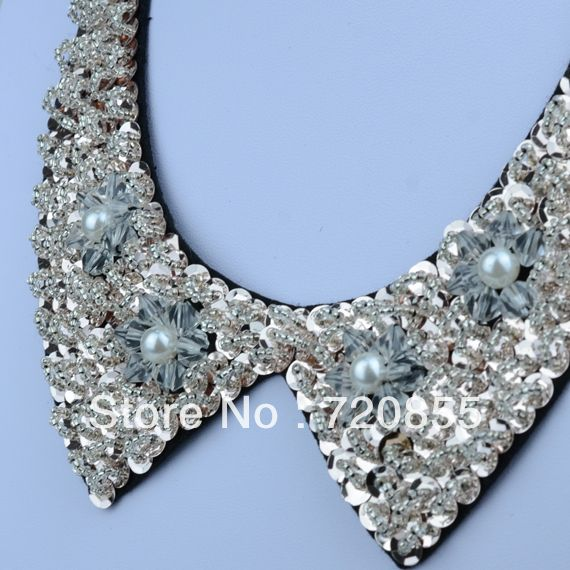Fashion Geometry False Collar Necklaces For Lady Gift,With Imitation-pearls and sequins jewelry women,Length: Can adjustment
