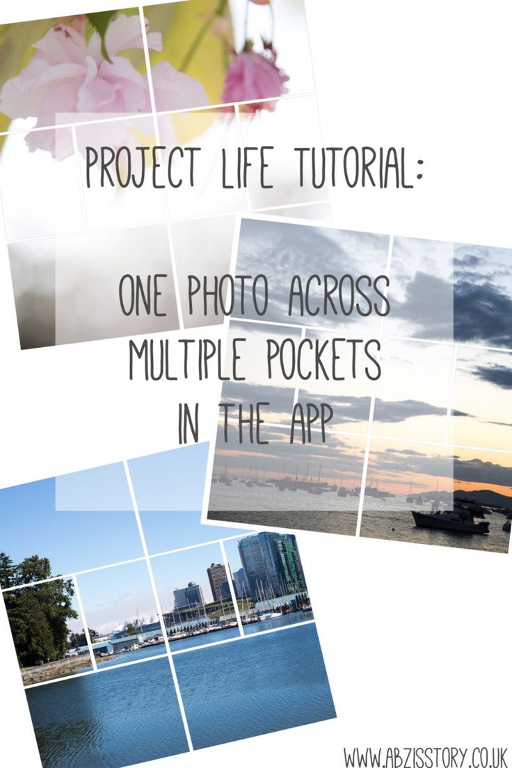Project Life Tutorial, One photo over multiple pockets