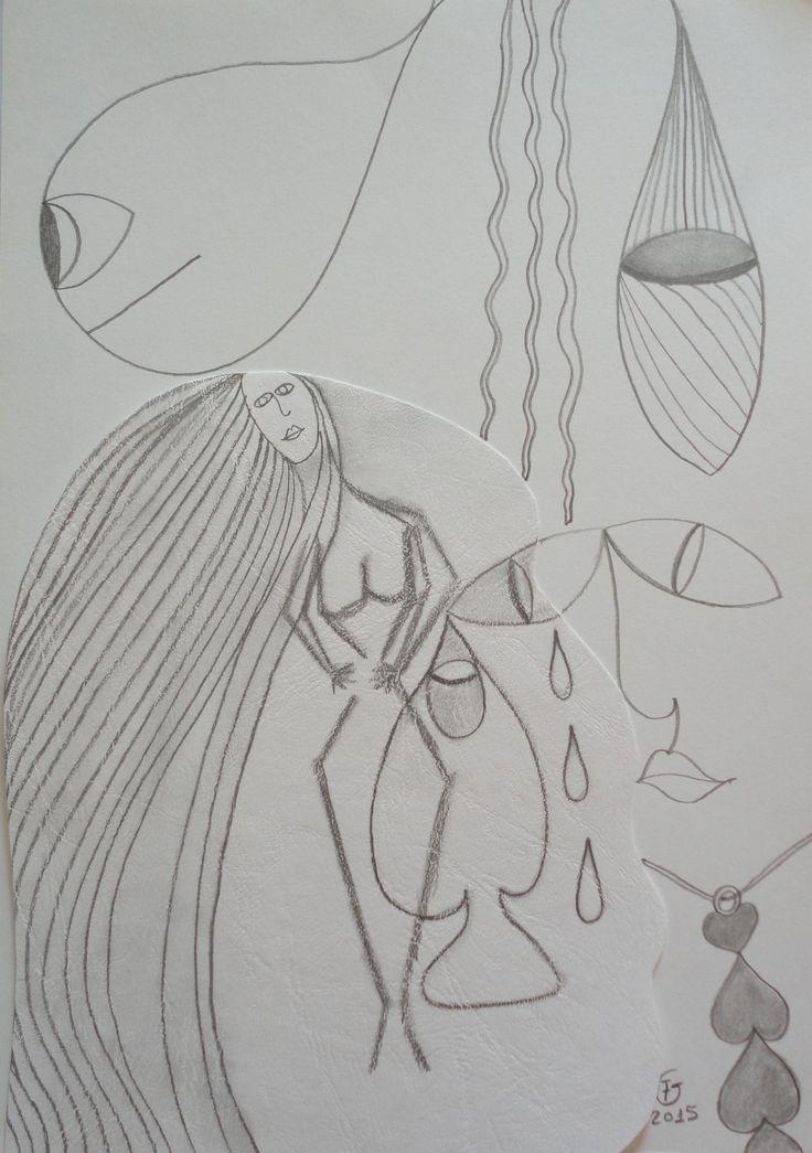 Afrodite, Deusa do Amor, representada aqui em grafite sobre cartão e papel à venda: 50 euros