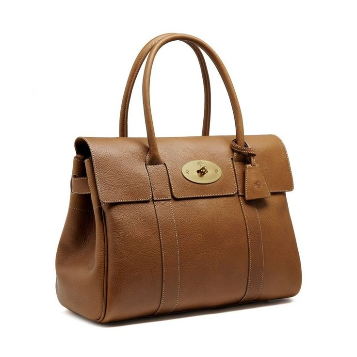 Bayswater in Oak Natural Leather With Brass | Women | Mulberry