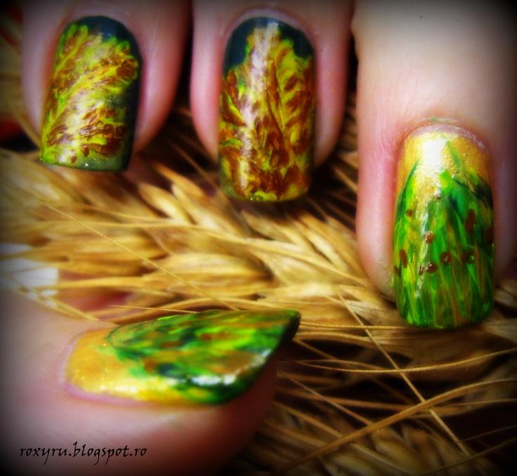 ear of wheat nail design