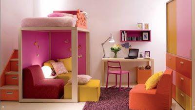 DORMITORIOS: decorar dormitorios fotos de habitaciones recámaras diseño y decoración: Dormitorios elevados para niñas - CAMAS ALTAS LITE...