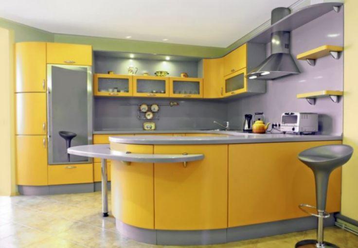 sarı mutfak dolabı modelleri
