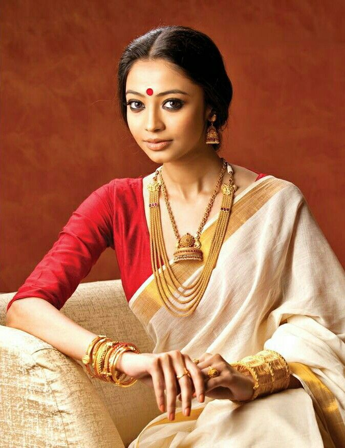 Kerala saree,Temple jewellery from Abira .what else?