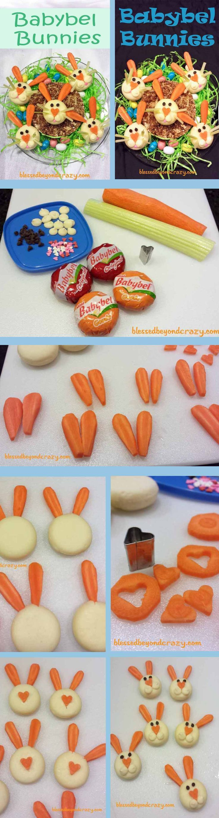 Healthy and Adorable Babybel Bunnies - fill a plate with these cute bunnies for an Easter appetizer or fun snack.
