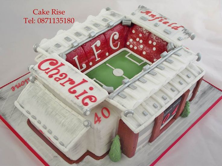 Anfield Stadium Cake for a Liverpool football fan.