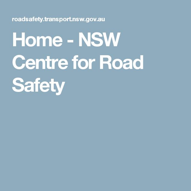 Home - NSW Centre for Road Safety
