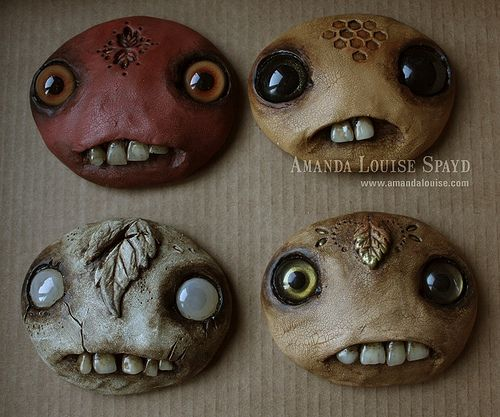 Making Faces, part 2  by Amanda Louise a great doll artist