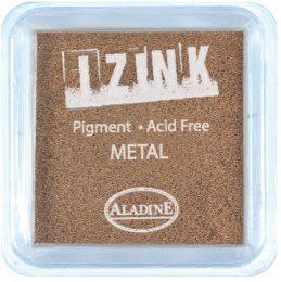 Inkoustový polštářek IZINK / Metalický bronzový