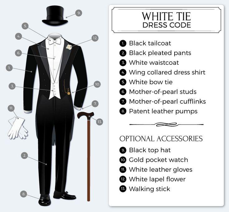 Formal White Tie Dress Code | Bows-N-Ties.com