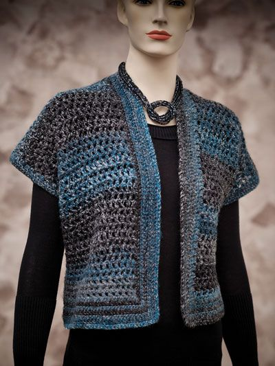 Chic and functional describe this stylish design! Made using Premier Yarns Aurora #4 worsted-weight yarn. Instructions are written for bust size: S 32--34 (M 36--38, L 40--42, XL 44--46, 2XL 48--50, 3XL 52--54, 4XL 56--58, 5XL 60--62, 6XL 64--66) and...