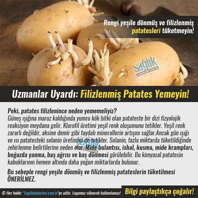 Peki, patates filizlenince neden yememeliyiz? Güneş ışığına maruz kaldığında yumru kök bitki olan patateste bir dizi fizyolojik reaksiyon meydana gelir. Klorofil üretimi yeşil renk oluşumunu tetikler. Yeşil renk zararlı değildir, aksine demir gibi faydalı minerallerin artışını sağlar. #sağlık #saglik #sağlıkhaberleri #health #healthnews @saglikhaberleri