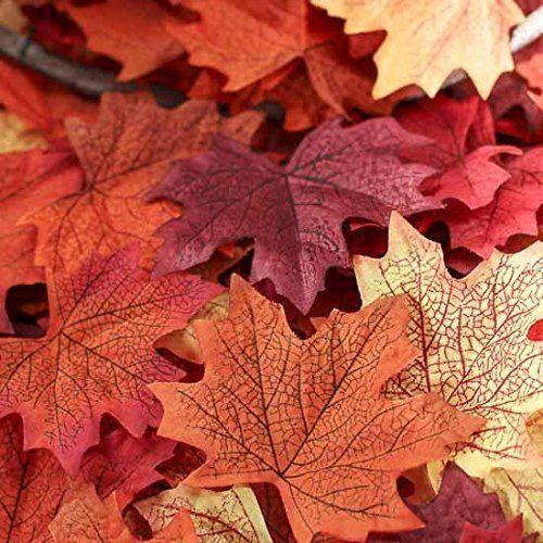 Cantidad: 150 piezas de hojas de arce bonitas multicolor (aprox.) Tamaños: Entre 8 * 8 cm y 10 * 10 cm Muy auténtico al igual que la cosa real