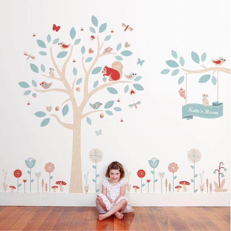 Tree Set - Woodland Wall Stickers - Wall Stickers - Wall Decor ~ tinyme.com