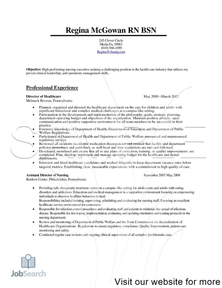 nurse resume examples cv template  nursing resume rn bsn