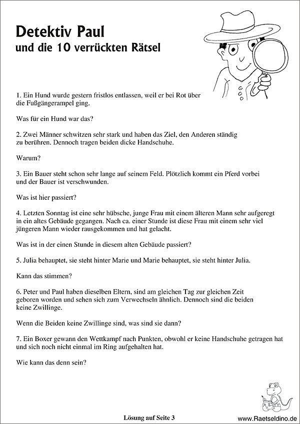Detektivratsel Kurze Ratselgeschichten Detektivratsel Kurze Ratselgeschichten Quiz Fur Kinder Ratsel Fur Kinder Schnitzeljagd Kinder