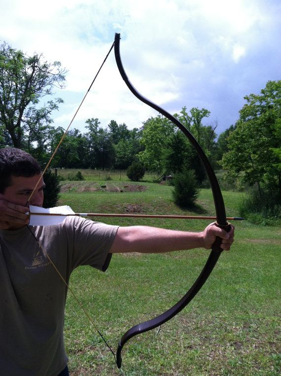 45lb Hunting / Target Recurve Bow and String by WoodallsVineyard, $115.00