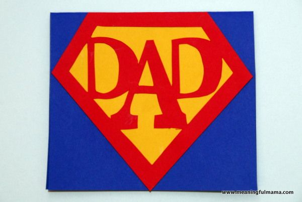 Super Dad Card with Printable - Great for a Birthday or Father's Day