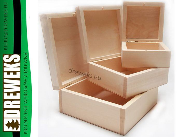 Zestaw drewnianych kasetek 3w1
