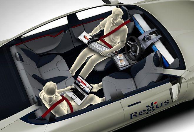 Verso Ginevra 2014. XchangE, l'auto a guida autonoma di Rinspeed e Regus che permette di lavorare in viaggio