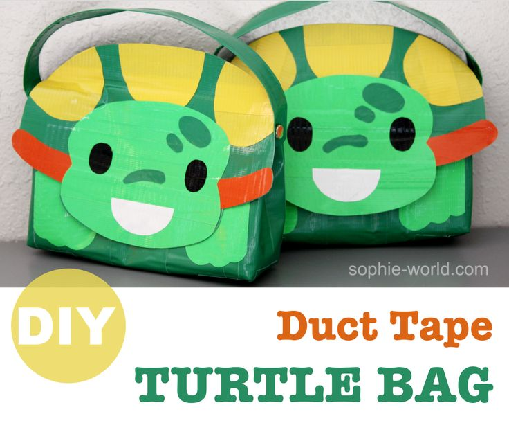 How to make a duct tape turtle bag! Photo & video tutorial | Sophie's World