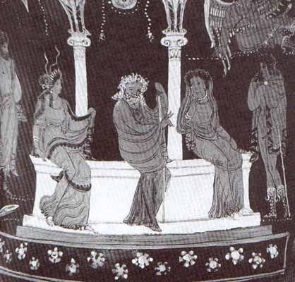 Texto de Edipo en Colono y resumen del argumento. Página de la Universidad de Murcia