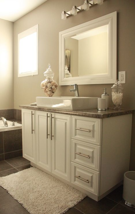 Pamela Pryce: Pamela Pryce bathroom in white, gray and silver tones with a touch of caramel to add in ...