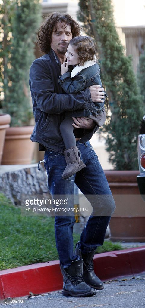February 18, 2009, Beverly Hills, California Soundgarden's Chris Cornell out with his daughter, Toni, in Beverly Hills. WORLDWIDE