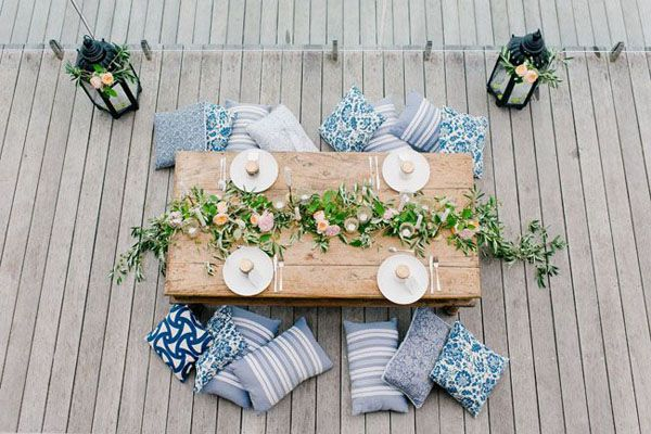 bohemian wedding table