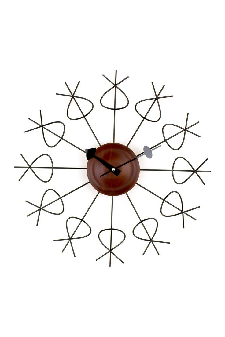 30 best cool clocks images on pinterest airplane clocks and george nelson black wood pretzel clock amipublicfo Choice Image