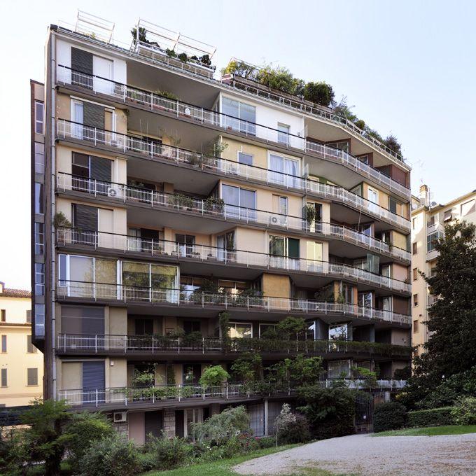 IT, Milano, Condominio al giardino d'Arcadia. Architect Giulio Minoletti, 1959. Corso di P.ta Romana 76 - Milano