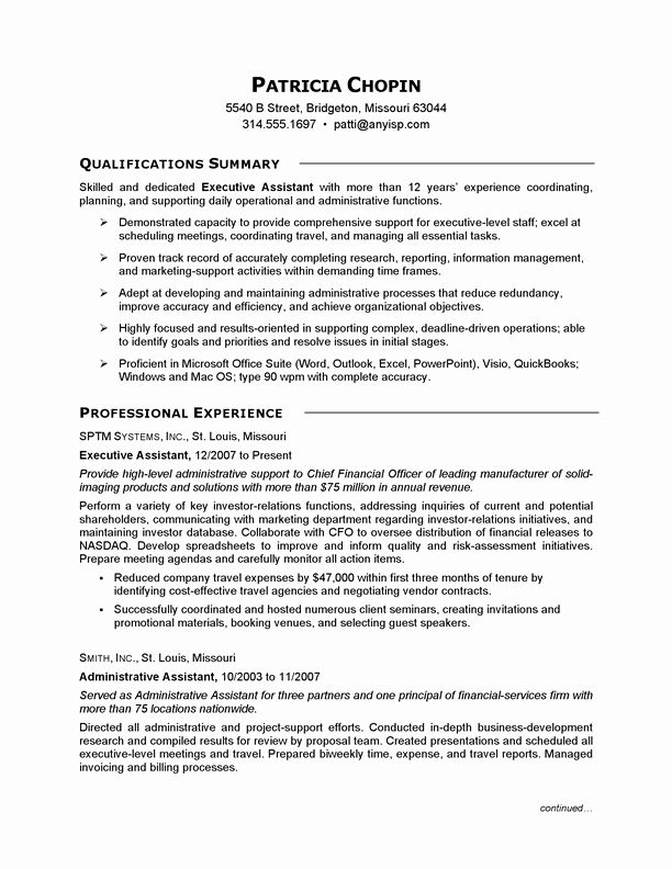 Administrative Assistant Resume Summary Luxury Resume Example Executive Assis Administrative Assistant Resume Resume Summary Examples Resume Objective Examples