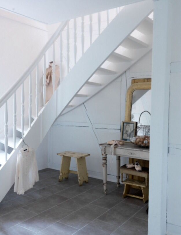 "This wonderful white staircase is from our feature ""Out of the Ordinary"""