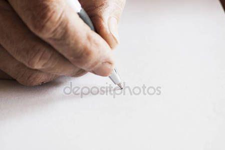 Writing on white paper — Stock Photo © carlotoffolo #148612801