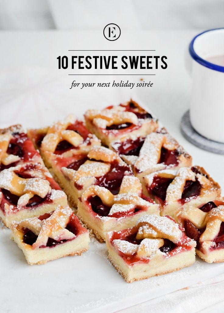 10 Festive Sweets for Your Next Holiday Soiree #theeverygirl