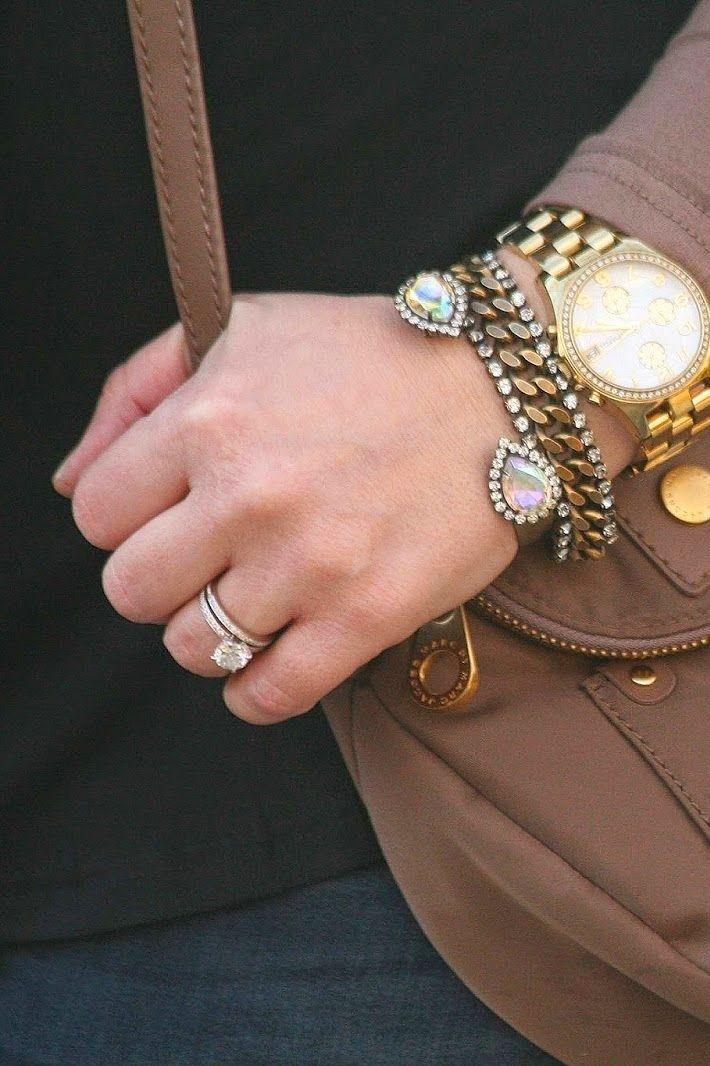 iridescent sarra cuff + mara bracelet // @peachesinapod