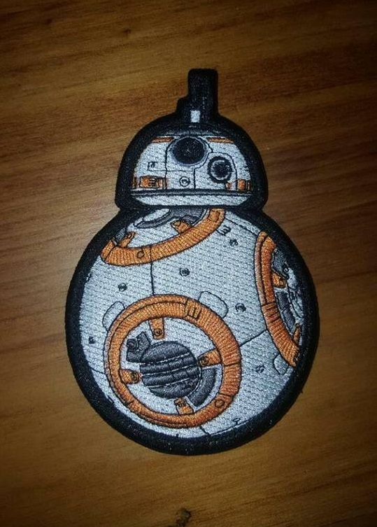 BB8 Fully Embroidered Velcro Morale Patch now added to our Star Wars Collection.