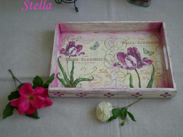 bandeja floral  P.V.P. 18 € sin gastos de envío
