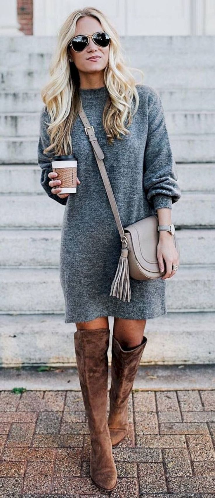50 Totally Perfect Winter Outfits Ideas You Will Fall in Love With – Stiefeln